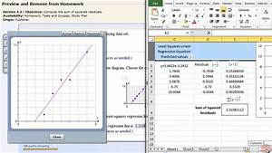 How To Make A Scatter Plot In Excel Least Squares Linear Regression Excel Youtube