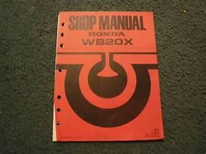 Honda Water Pump Wb20x Service Repair Shop Manual 61yb500z