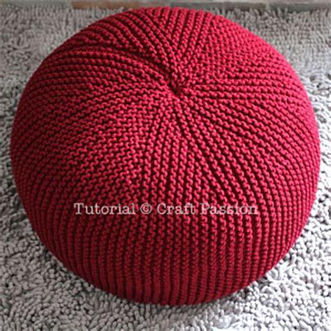 knitted pouf pattern free pouf knitting pattern free craft