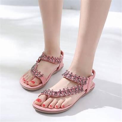 Sandals Flat Thong Crystal Bohemia Multe Stylesimo