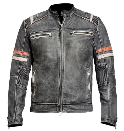 retro motorcycle jacket men 39 s biker vintage motorcycle retro cafe racer black