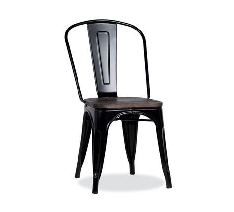 chaise bistrot metal chaise bistrot métal noir et bois industrielle 39 industry