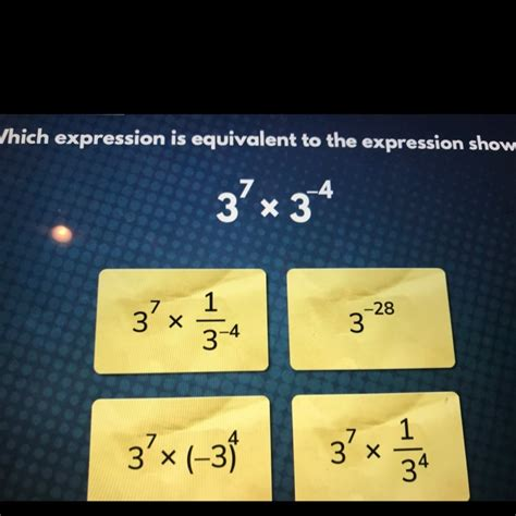 Which expression is equivalent to the expression shown ...