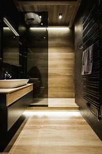 Meuble Salle De Bain Noir Et Bois : accessoires salle de bain noir et bois ~ Teatrodelosmanantiales.com Idées de Décoration
