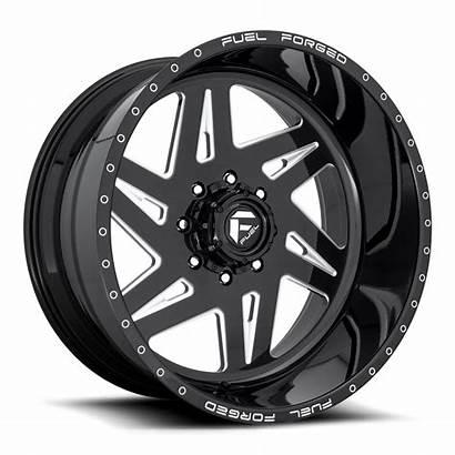 Single Wheels Dually Wheel Fuel Rims Milled