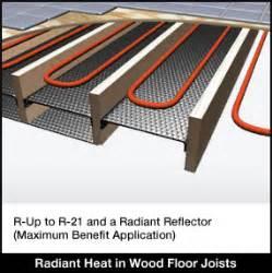 insulation in floor joist radiant heat