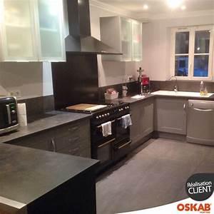 cuisine equipee grise bois moderne filipen gris mat With idee deco cuisine avec cuisine Équipée en bois moderne