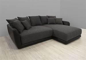Sofa Grau Günstig : dreams4home polsterecke chios xxl wohnlandschaft big sofa ecksofa couch grau schwarz ~ Watch28wear.com Haus und Dekorationen