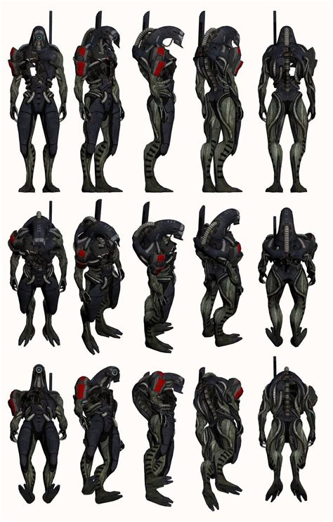 Mass Effect 2 Legion Model Reference By Troodon80