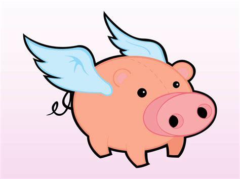 Flying Pig Vector Art & Graphics