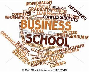 Drawing of Business school - Abstract word cloud for ...