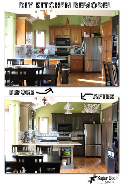 Kitchen Cabinet Remodel Diy by Kitchen Cabinet Reveal Thanks Rustoleum Sugar Bee