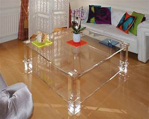 Clear acrylic coffee tables and accent tables clear for Clear lucite acrylic coffee table