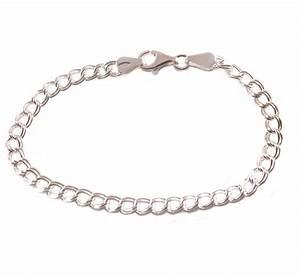 "7"" Sterling Silver Double Link Charm Bracelet - Boxed | eBay"
