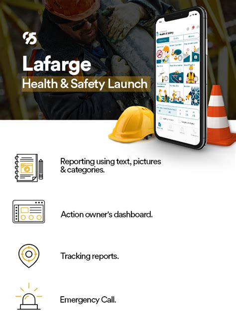 code launches lafarge health  safety mobile