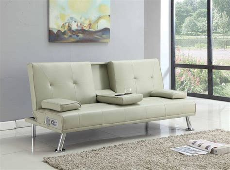 Sofa Bed Cup Holder by Bluetooth Cinema Sofa Bed With Drink Cup Holder Table Faux