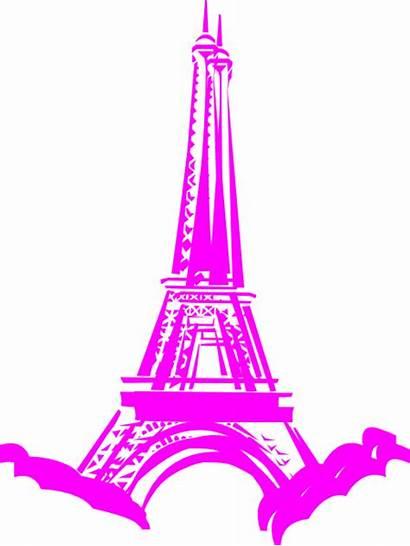 Paris Pink Clip Beau Clipart Clker Vector