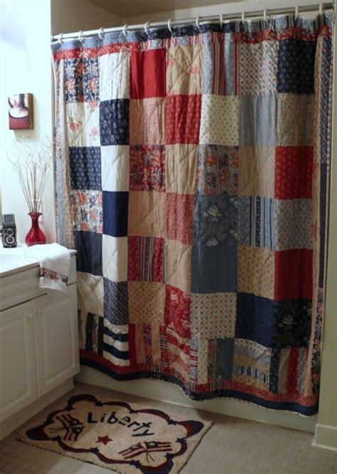 quilted shower curtain for the home