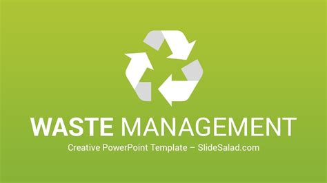 video infographic waste management powerpoint template