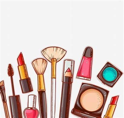 Cartoon Cosmetics Clipart Cosmetic Makeup Cliparts Maquillaje