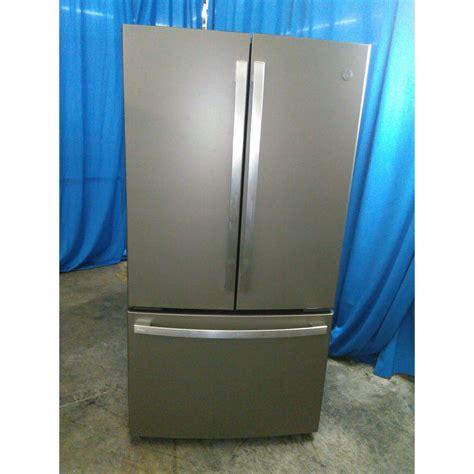ge profile series pwekmkes  cu ft counter depth french door refrigerator slate