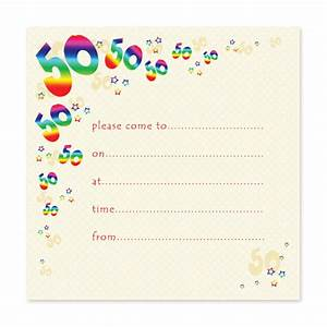 blank 50th birthday party invitations templates drevio With template for 50th birthday invitations free printable