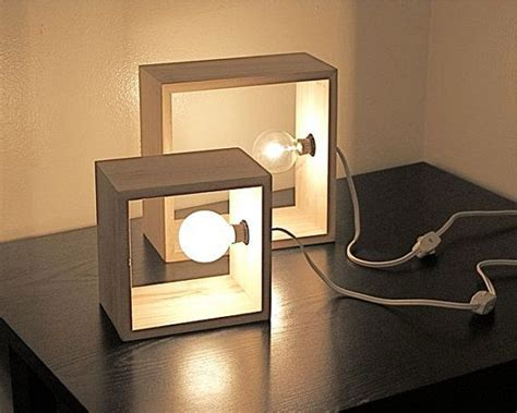 simple modern box l minimalist lighting wooden square wall sconce accent table l
