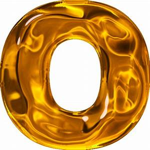 presentation alphabets lumpy gold letter o With gold letter o