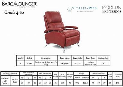 Recliner Chair Barcalounger Ii Dimensions Oracle Leather
