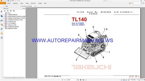 takeuchi tl140 parts manual bt9z006 auto repair manual heavy equipment