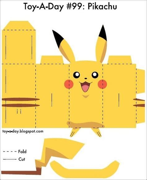 pikachu 3d para imprimir y armar molde pikachu paula sobres de papel
