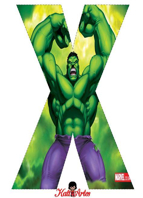 alfabeto gratis de hulk   alfabetos
