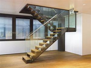 Treppe Mit Glasgeländer : treppe mit abgestufter stahlwange glasgel nder und edelstahlhandlauf ~ Sanjose-hotels-ca.com Haus und Dekorationen