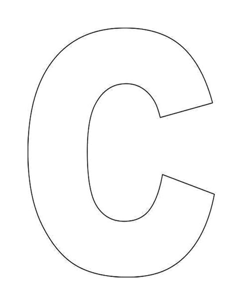Large Letter C Template by Alphabet Letter C Template For Jpg 1700 215 2200