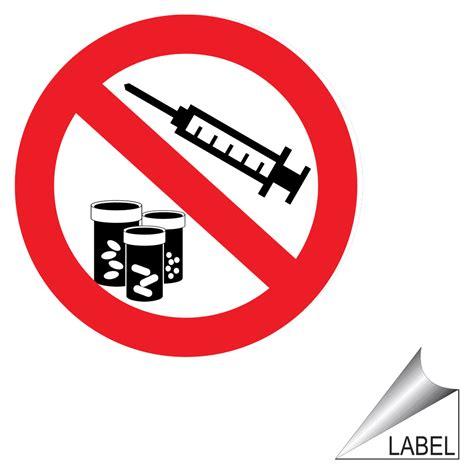 drugs  narcotics  sharps symbol label label prohib
