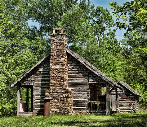 When we moved to the mountain and started building our off grid homestead, we were too heavily forested for maintaining a successful garden. Ozark Mountain Homestead Photograph by Katie Abrams