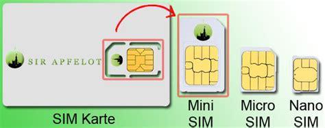 sim karten groessen und formate full size mini micro