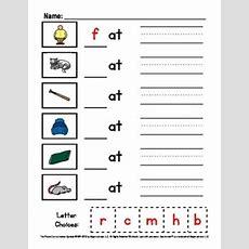 Word Family Worksheets (3 Letter Words) By Lauren Erickson Tpt