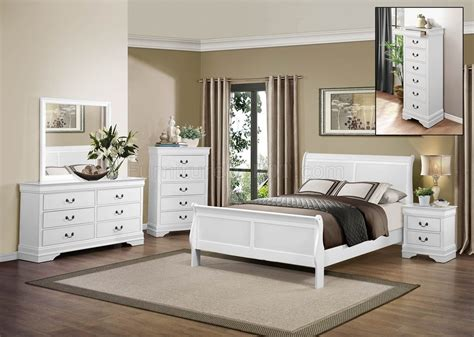 mayville bedroom 5pc 2147w by homelegance in white w options