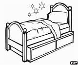 Bed Colorir Coloring Desenhos Cama Colorear Casa Objetos Dibujos Pintar Letto Hogar Muebles Uma Solteiro Casas Google Imprimir Bunk Individual sketch template