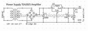 Dukun Elektro  Rangkaian Mini Stereo Amplifier Dengan Ic Tea2025b