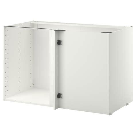 ikea corner base cabinet metod corner base cabinet frame white 128x68x80 cm ikea