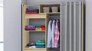 Wandschrank Selber Bauen : wandschrank odeon schrank kleiderschrank akazie mit vorhang ~ Watch28wear.com Haus und Dekorationen