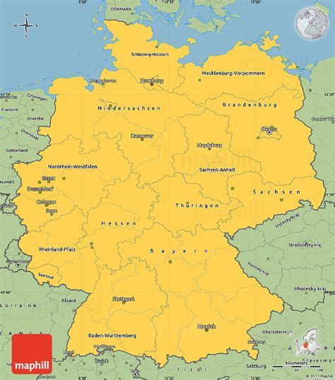 savanna style simple map  germany