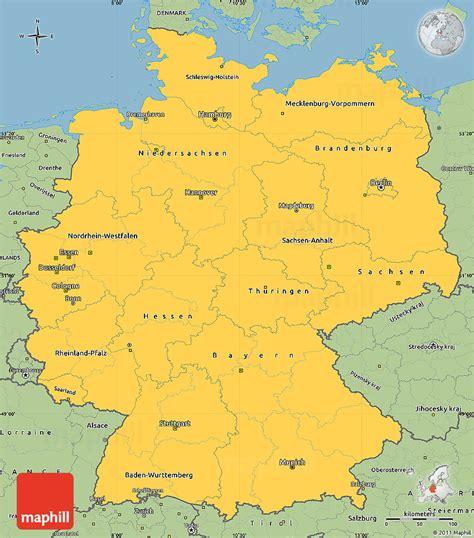 savanna style simple map  germany