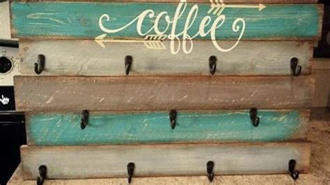 (1) you may want to power wash your pallet before you dive into this project since you'll be hanging. Pallet Coffee Cup Holder For You Coffee Lovers Out There!