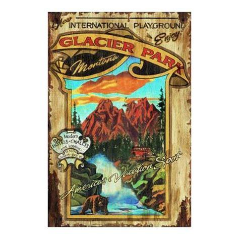 customizable glacier park vintage signs