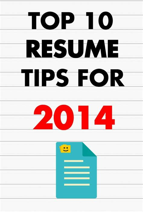 Top Resume Exles 2014 by Top 10 Resume Tips For 2014 Way You Work