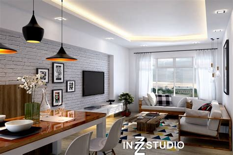 A Modern Scandinavian Inspired Apartment With Ingenius Features : Hdb Bto Modern Scandinavian With Special Feature Wall