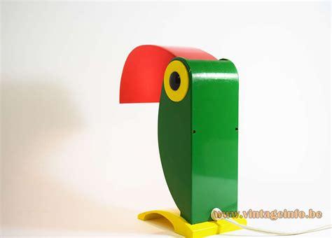 timer ferrari toucan table lamp vintage info